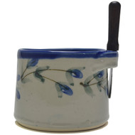 Dip Bowl with Spreader Knife - Pussy Willow
