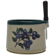 Dip Bowl with Spreader Knife - Blueberries