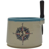 Dip Bowl with Spreader Knife - Compass Rose