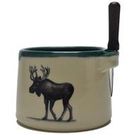 Dip Bowl with Spreader Knife - Moose