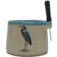 Dip Bowl with Spreader Knife - Heron