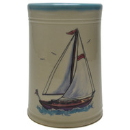 Utensil Holder - Sailboat