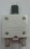 """mechanical products, 25 amp, push to reset, circuit breaker, 7/16"""" bushing, white button, quick connect terminals, 1600-094-250"""