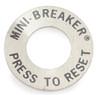 Push to reset plate for circuit breaker, 3/8 bushing