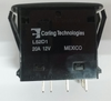 Carling, L Series, single pole, off on on, progressive circuit, independent lamp, one lamp, raised bracket, L52D1A601-00000-000