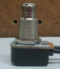 Carling, single pole, wire leads, momentary off, Push Button Switch, normally on, metal push button, P26T-1D-RND MTL