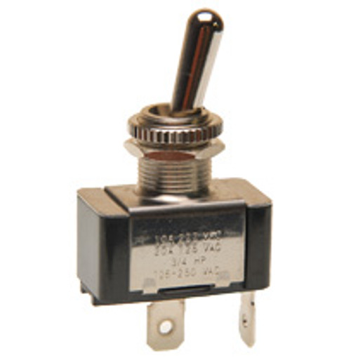 single pole momentary toggle switch, push on terminals, bat handle, momentary on, normally off