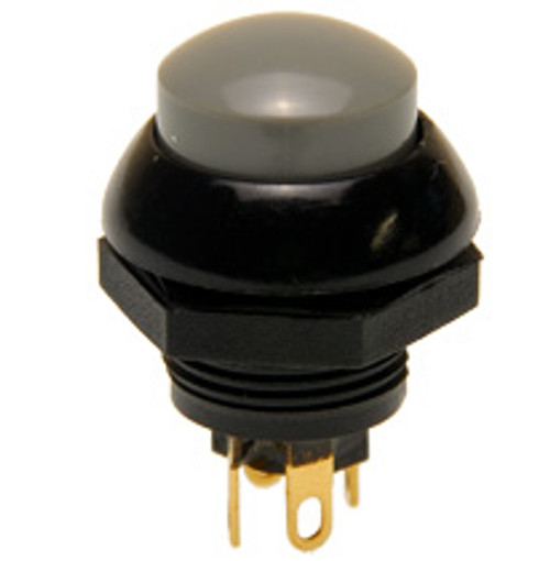 P9-213128 Otto Two Circuit Momentary Push button with Gray Raised Button,