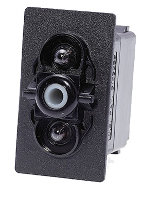 VAD2U66B, Carling V Series rocker switch, on-off, double pole, 2 independent lamps