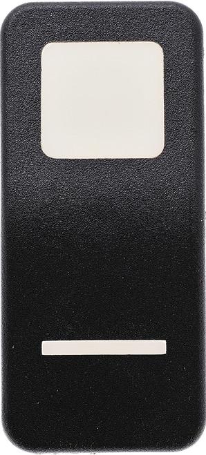 VV69800-000 Carling V Series Contura 11 Actuator, Hard Black, 1 white square lens, 1 white bar lens