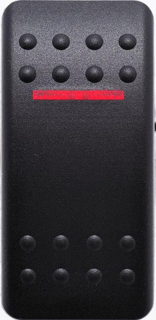 VVAMC00-000 Carling Contura 2 Hard Black Actuator, 1 red bar lens