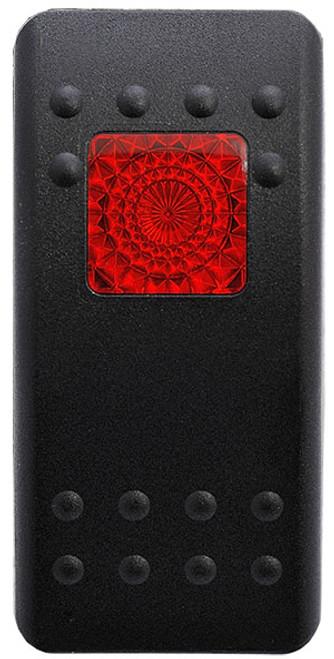 black actuator, switch cap, red square lens, Carling, VVARC00-000
