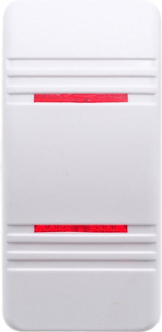 VVCNY00-000 Carling Contura 3 Hard White Actuator, 2 red bar lens