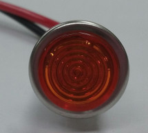 indicator light, 14 volt, amber, led, Solico, wire leads, 2912-1-11-37620
