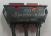 125 volt, neon, indicator light, rectangular, red and amber lens, wire leads, solico