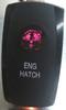 engine hatch, rocker switch cover, red lens, Carling, V Series, Contura, Black
