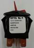Otto sealed rocker switch, K2 series, double pole K2ADPAAAAA, red paddle