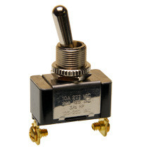 single pole toggle switch, on-momentary off, screw terminals