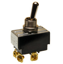 double pole on-off toggle switch, screw terminals