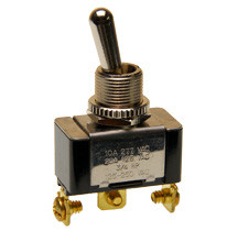 single pole, toggle switch, on - momentary on, screw terminals, spdt