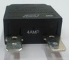 mechanical products 4 amp push to reset breaker, black button, quick connect terminals, 1480-301-040