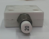 """mechanical products, 20 amp, push to reset, circuit breaker, 7/16"""" bushing, white button, quick connect terminals, amp stamp, 1600-109-200"""