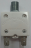 """mechanical products, 5 amp, push to reset, circuit breaker, 7/16"""" bushing, flush white button, quick connect terminals, 1600-162-050"""