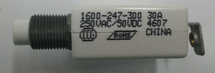 """mechanical products 30 amp push to reset circuit breaker, 7/16"""" bushing, screw terminals bent 90 degrees 1600-247-300"""