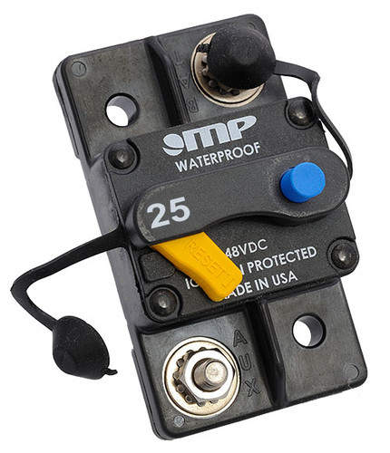 Mechanical Products, circuit breaker, 175-s0-025-2, ignition protected, rohs, 25 amp, type 3, manual reset
