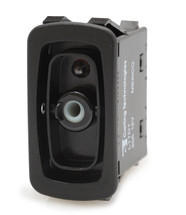 L11D1AH01 carling L series rocker switch, raised bezel, single pole, On-Off, one independent green led