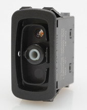 L28D1AH01 double pole, double momentary L series rocker switch, spring return to center off, one independent green led