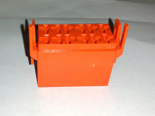 Carling L Series Connector Housing for rocker switch, Orange, LC1-05