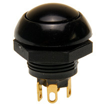 P9-113122 Otto Black Flush Push Button, Momentary, Two Circuit