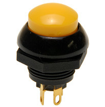 P9-213124 Otto Momentary Push Button Switch with Raised Yellow Button