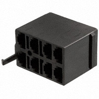 Connector Housing for V Series Rocker, 8 Terminal base, Black, Carling, Contura