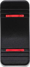 VV1PP00-000 Carling V Series Contura X Actuator, Hard black, two red bar  lens
