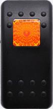 carling, v series, hard black, 1 amber square lens, VVAEC00-000, contura II, switch cap, actuator