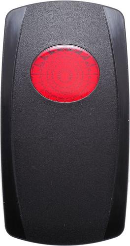 Carling V Series Rocker actuator, one red oval lens, VVGPC00-000