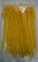 Self Locking Nylon Miniature Cable Ties. Yellow