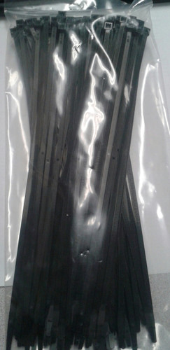 "Self Locking Standard 11.25"" Black Nylon Cable Tie"