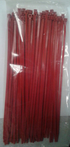 "Self Locking Standard 11.25"" Red Nylon Cable Tie"
