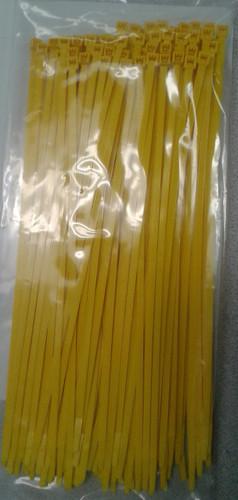 "Self Locking Standard 11.25"" Yellow Nylon Cable Tie"