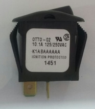 Otto sealed rocker switch, on off, K1 series, single pole, K1ABAAAAAA