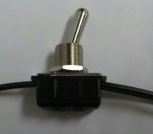toggle switch, Carling, wire leads, on-on, 6 amps, 2BB65-73