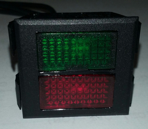 2650 1 50 45341 Red Amp Green Rectangular Indicator Light