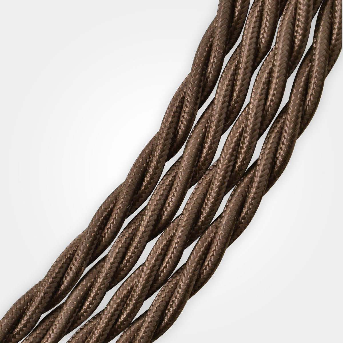 brown braided cable flex artifact lighting