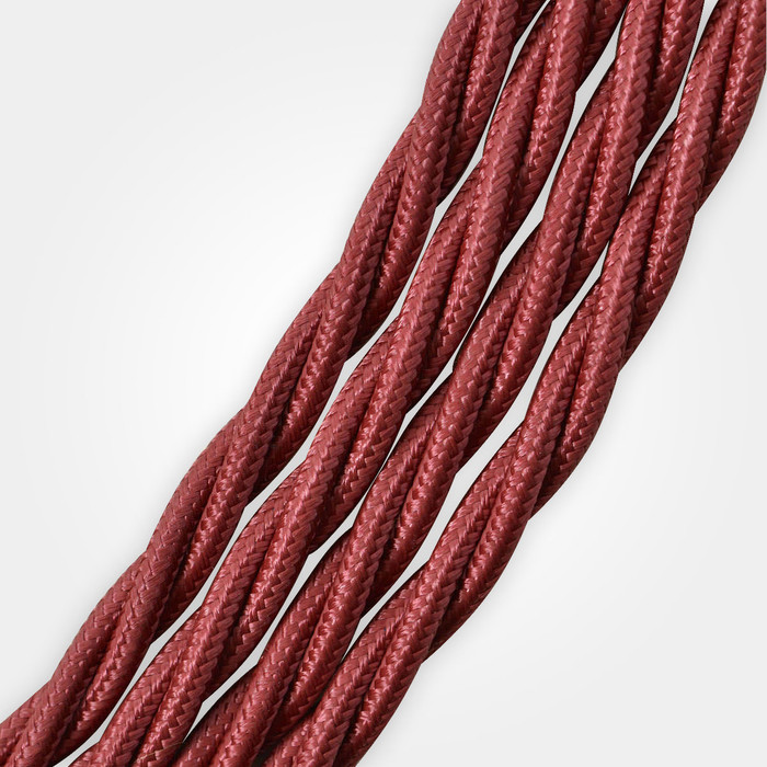 Burgundy Braided Cable Flex