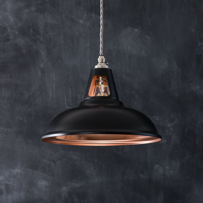 Fusion Pendant Light Matt Black Amp Copper Artifact Lighting
