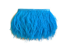 1 Yard - Turquoise Ostrich Fringe Trim Wholesale Feather (Bulk)