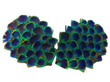 1 Piece - Blue Peacock Triangle Eye Feather Pad